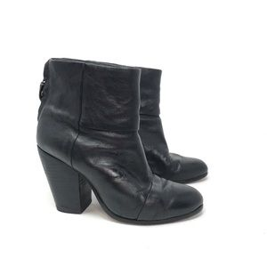 Rag & Bone Newbury Leather Booties Black 37.5
